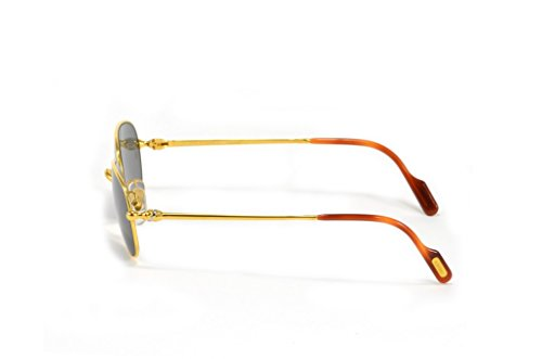Giallo Lenti Cartier Sole Oro Occhiali Vintage Deimios Con Da lF1cTJK